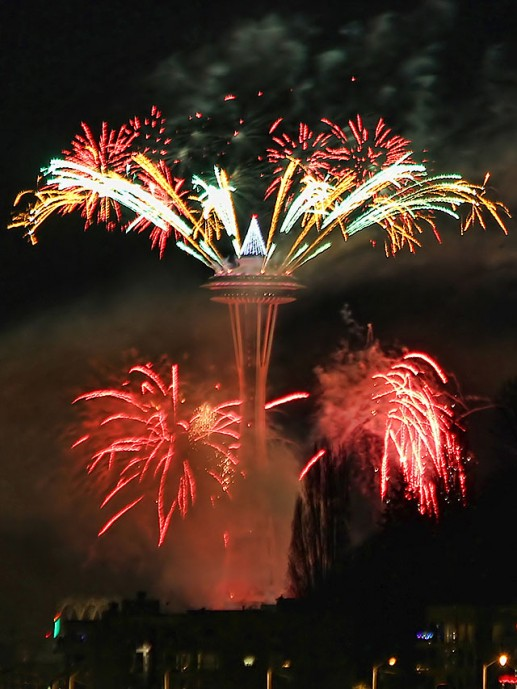 7e1a045da78 (Last year s Space Needle fireworks, photographed from West Seattle by  David Hutchinson) This year s edition of the WSB West Seattle Holiday  Guide, ...