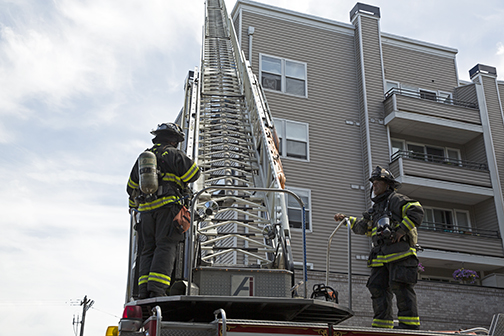 West Seattle Blog…   UPDATE: Rooftop fire at apartment building in