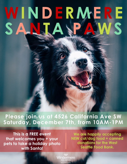 Windermere Santa Paws pet photos @ Windermere West Seattle | Seattle | Washington | United States