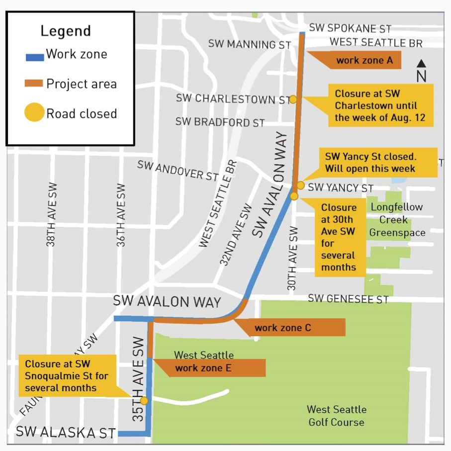 West Seattle Blog…   AVALON/35TH PROJECT: What's done, what's next