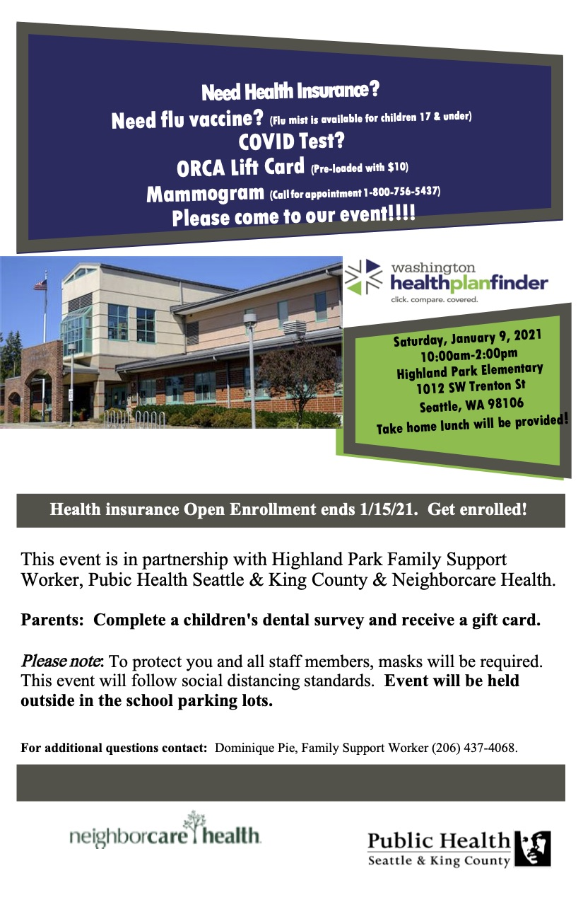 Health services and more: Community event @ Highland Park Elementary