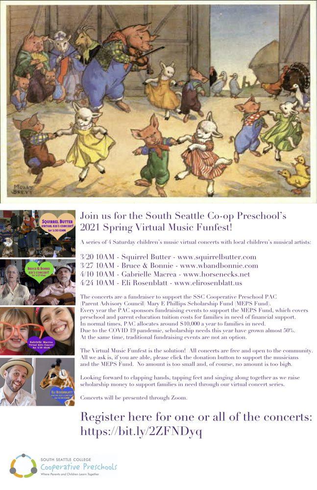 South Seattle Cooperative Preschools' Music Funfest @ online